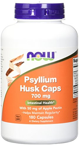 Now Foods Psyllium Husk 700mg with Pectin, Capsules, 180-Count (Now Psyllium Husk Caps compare prices)