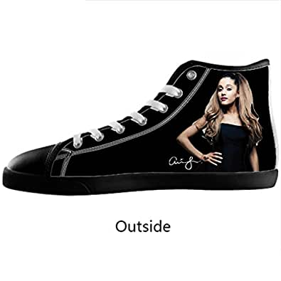 Amazon.com: Halocow custom Ariana Grande Men's High Top Canvas Shoes