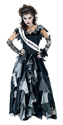 Papermagic Womens Scary Damsel Ball Zombie Prom Queen Theme Halloween Costume