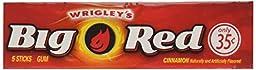 Wrigleys Big Red chewing gum, Cinnamon, 5 sticks per pack, 40 packs