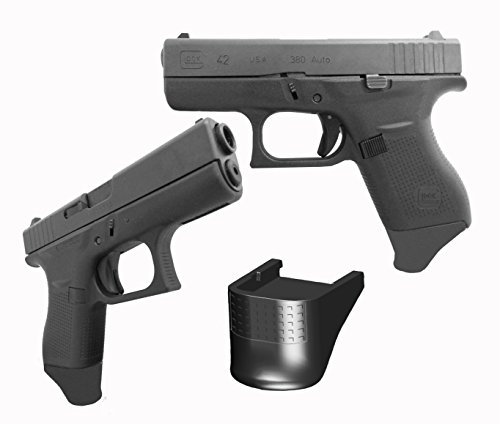 """Garrison Grip 2 Pack Glock 42 G42 .380 7/8"""" All Fingers Magazine Mounted Grip Extension front-25531"""