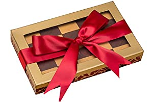 Call Me Nuts- Kosher Chocolate Checkerboard Fresh Roasted Peanut Chews Red Bow Style Gift Tray, Box Platter Perfect for Thanksgiving , Christmas, Chanukah and Everyday Snacks