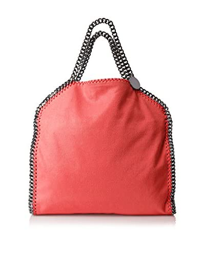 Stella McCartney Women's Falabella Shaggy Deer Fold Over Tote, Pink Fluorescent