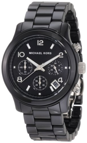 Michael Kors Mk5162 Ladies Watch with Black Ceramic Bracelet and Black Dial