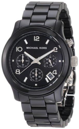 Michael Kors Mk5162 Ladies Watch with Black Ceramic Bracelet and Black Dial