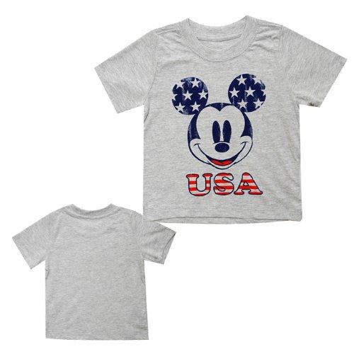 [ディズニー]Disney Mickey Mouse T-Shirt U.S.A/ミッキーマウス 半袖 Tシャツ USA 12ヶ月/80cm