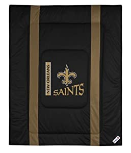 New Orleans Saints Queen Full Size Sideline Comforter by Sports Coverage
