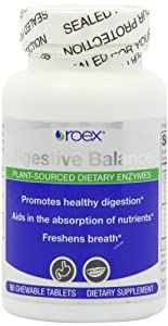 Roex Digestive Balance Dietary Supplement Chewable Tablets, 90 Count