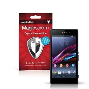 MediaDevil Sony Xperia Z1 Compact Screen Protectors: Magicscreen Crystal Clear (Invisible) edition - (2 x Protectors)