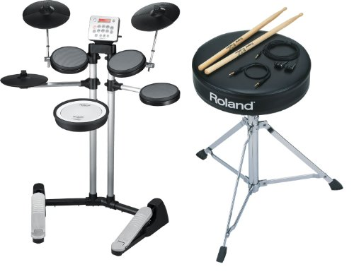 Roland Hd-3 V-Drums Lite Electronic Drum Kit Set With Dap-1 Accessory Pack