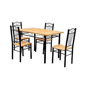 Sedie cucina pranzo soggiorno set 4 sedie legno metallo for Set sedie cucina