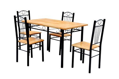 Frunty ensemble de salle manger table 4 chaises en for Salle a manger fer forge