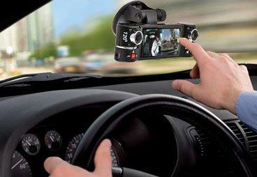 inDigi® Dual Camera Rotated Lens Car DVR w/ 2.7