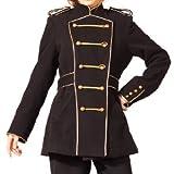 ナポレオンジャケットコート p157 ゴスロリ ロリータ パンク コスプレ コスチューム メイド 黒 4l