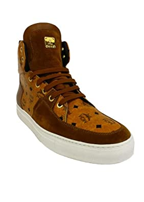 mcm herren sneaker urban nomad 2 high x mcm beige cognac monogram 736 42 schuhe. Black Bedroom Furniture Sets. Home Design Ideas