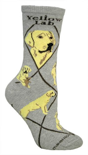 Yellow Labrador Retriever Cotton Puppy Dog Breed Animal Socks 9-11