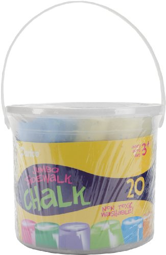 Darice Assorted Sidewalk Chalk, Jumbo, 20-Pack - 1