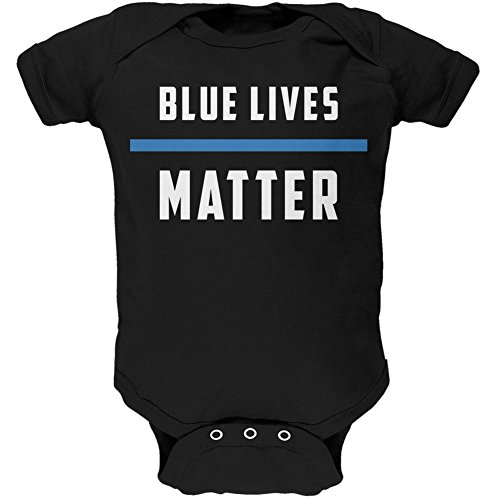 Police Blue Lives Matter Thin Blue Line Black Soft Baby One Piece - 9-12 months (Girls Police Outfit)