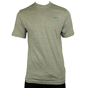 New Mens Nike Grey Retro Logo Gym Sports Tee T-Shirt Vintage Top Size L