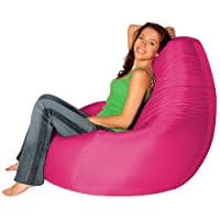Designer Recliner Gaming Bean Bag PINK - Indoor & Outdoor Beanbag Chair (Water Resistant) by Bean Bag Bazaar®