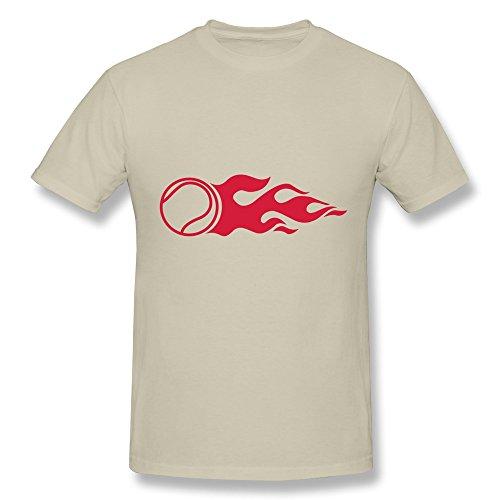 Jeff Men'S Tennis Fire T-Shirt Natural X-Small