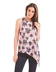 Shuffle Women's Cut-Out Top (1021615235_Pink Mix_X-Large)