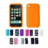 SODIAL(TM) ORANGE Apple iPhone 3G 3Gs 8GB 16GB 32GB Textured Silicone Skin Case Cover