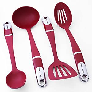 KitchenAid 4-pc. Culinary Utensil Set - Red