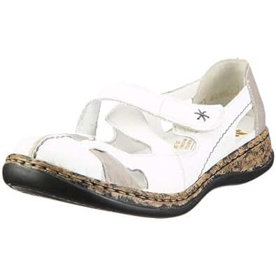Rieker Women's Daisy 46367-80 Weiss/Grey Ankle Strap 46367-80 3.5 UK
