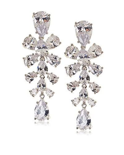 CZ by Kenneth Jay Lane Cluster Pear CZ Special Occasion Earrings