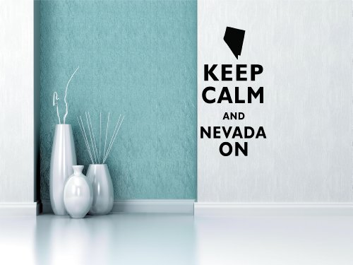 Keep Calm and Nevada on 22x11 Inches Vinyl Car Sticker Symbol Silhouette Keypad Track Pad Decal Laptop Skin Ipad Macbook Window Truck Motorcycle 400mmx1520mm glossy red vinyl auto car styling car and motorcycle sticker vinyl wrap film air release sticker decal sheet