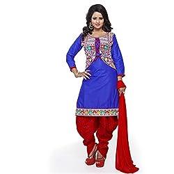 k mart Blue Patiala Salwar Suits
