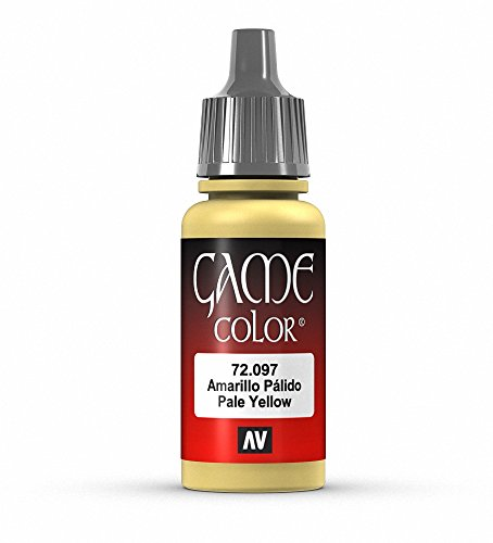 Vallejo Game Color Pale Yellow Paint, 17ml