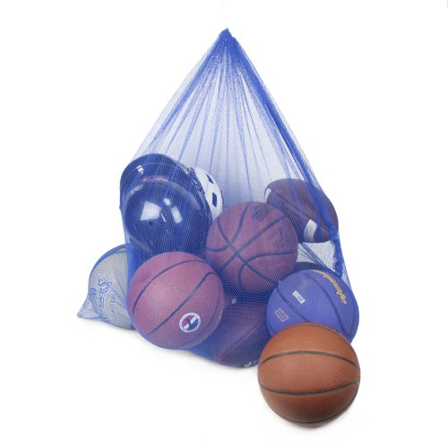 Crown Sporting Goods Coaches Equipment Bag in Heavy Duty Mesh, Blue - 1