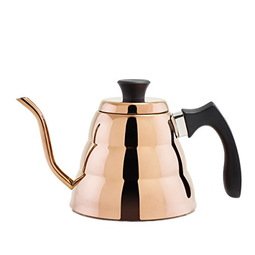 Old Dutch Dura Copper Precise Coffee & Tea Pour-Over Kettle, 1.05 quart/1.0 L, 1.05 quart/1.0 L, Titanium