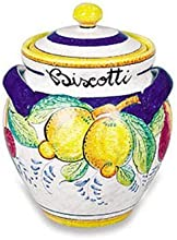 Handmade Frutta Biscotti Jar From Italy