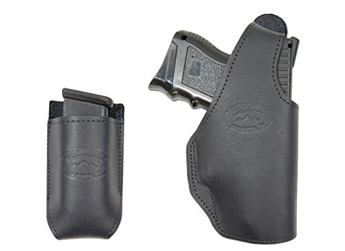 New Barsony Black Leather Belt Loop Holster + Mag Pouch For Cz-P07 Duty Left