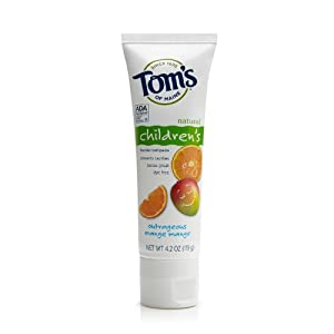 Tom's of Maine Anticavity Children's Toothpaste, Outrageous Orange-Mango, 4.2-Ounce (Pack of 3)