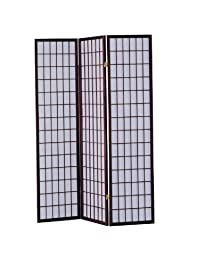 ACME 02277 Naomi 3-Panel Wooden Screen Cherry Finish