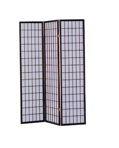 Find Discount ACME 02277 Naomi 3-Panel Wooden Screen, Cherry Finish