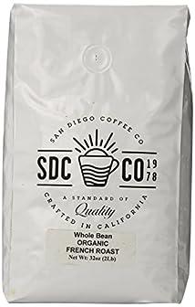 San Diego Whole Bean Roasted Coffee French Roast Organic 32 Ounce