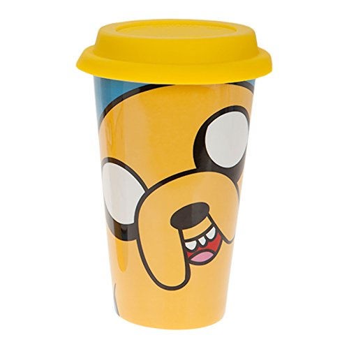 Adventure-Time-Jake-Big-Face-To-Go-Kaffee-Becher-Travel-Mug-gelb-300ml