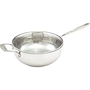 Emeril Stainless Steel 4 Quart Chef's Pan