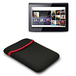 SONY TABLET S TABLET NEOPRENE POUCH CASE - BLACK PART OF THE QUBITS ACCESSORIES RANGE