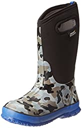 Bogs Kids Classic Camo Waterproof Insulated Boot (Toddler/Little Kid/Big Kid),Black,2 M US Little Kid
