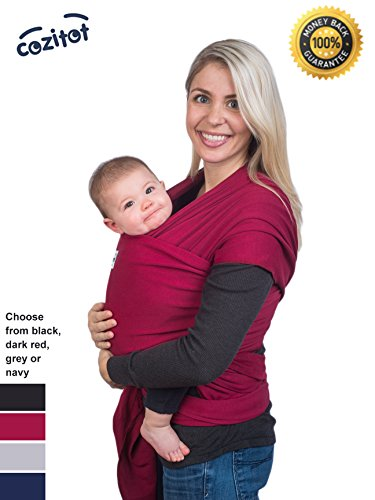 Why Choose Dark Red Baby Wrap Carrier Sling by Cozitot® | Soft and Stretchy Baby Carrier | Baby Sli...