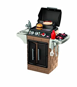 Little tikes get out n 39 grill kitchen set for Kitchen set game