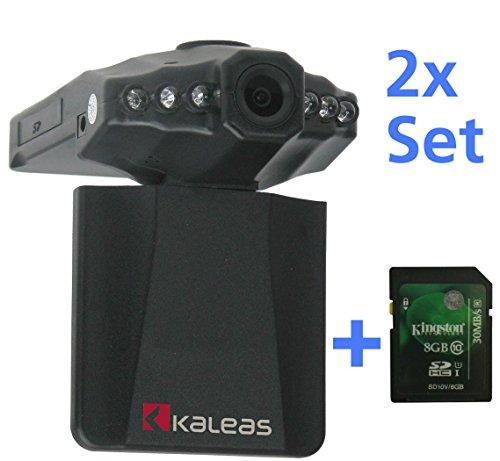 "Kaleas Dashcam Auto Kamera Überwachungskamera Video Recorder Car Black Box DVR HD 2,5"" inkl. hochwertiger SD-Karte 8 GB Class 10 (43010)"
