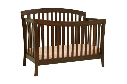 DaVinci Rivington 4-in-1 Convertible Crib with Toddler Rail, Coffee