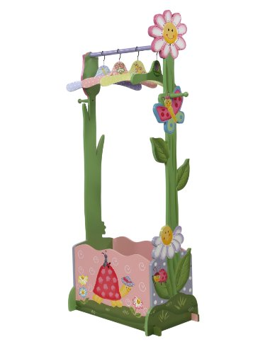 Teamson Kids Girls Valet Rack including 4 Hangers – Magic Garden ...